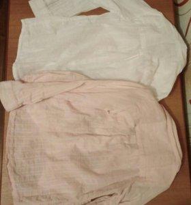 Блузки рубашки 116-122см