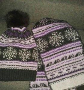 Шапка женская+шарф