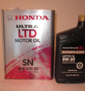 Масло моторное Honda Ultra LTD SN-CF-5 5W30 4л
