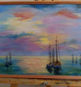 Море ,картина маслом 40*50