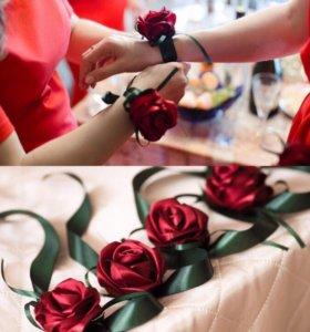 Повязки на руку для подружек невесты