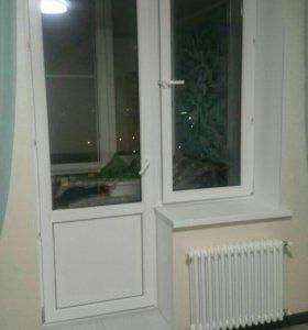 Окно и балконный блок новый из новостройки