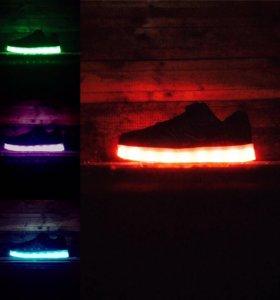 New balance детские светодиодные кроссовки