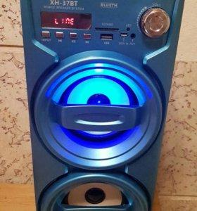 Bluetooth колонка портативная XH37bt blue