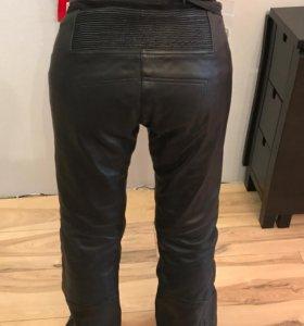 Кожаные мото-штаны женские