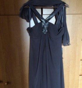 новое шелковое вечернее платье