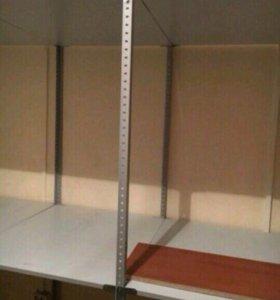 Стеллаж на металических стойках. Три стеллажа L12м