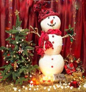 Снеговик для витрин, фотостудий