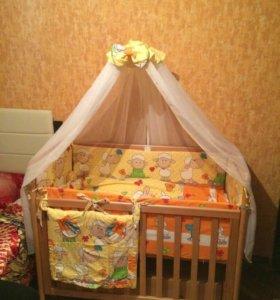Кроватка и комод Лель и все что нужно для детской.