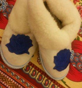 Тапочки чуни женские домашняя обувь