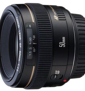 Продам объектив canon EF 50mm f/1.4 USM