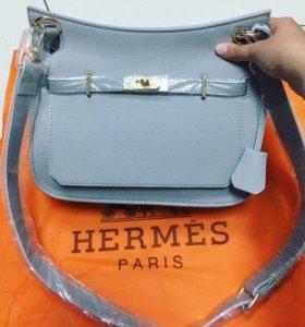 Стильная сумка Hermes, натуральная кожа