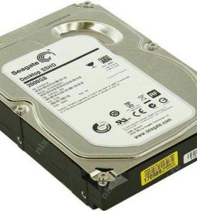 Гибридный жесткий диск SSHD 2Tb новый