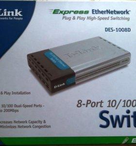 Коммутатор D-Link DES-1008D 8-port