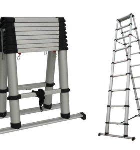 Лестница-стремянка телескопическая 4м