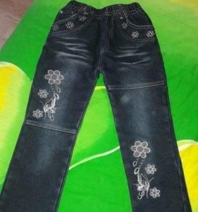 джинсы на девочку утепленные