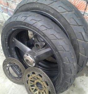 Продам колеса на мотоцикл HONDA CB400SF