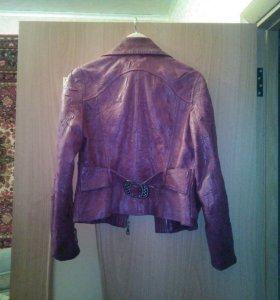 Куртка кожаная+ подарок