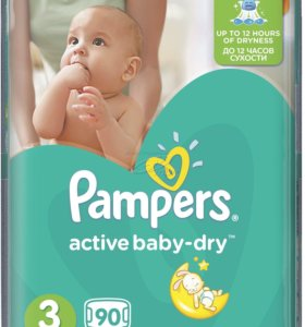 Подгузники Pampers active baby dry
