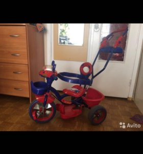 Детский велосипед коляска трехколестный