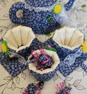 чайный текстильный  набор.