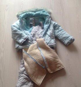 Куртка,жилетка,полукомбинезон для девочки