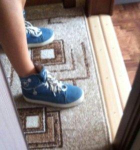 Джинсовые кроссовки 37-37,5