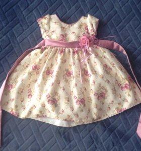 Нарядное платье р. 86-92