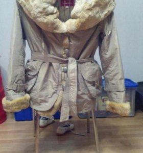 Куртка зимняя женская с подстежкой из кролика