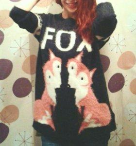 Свитер bershka fox