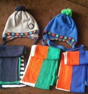 Новые комплекты шапка-шарф 50-54р