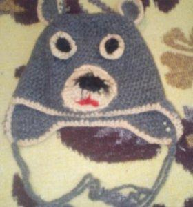 Шапочка мишка