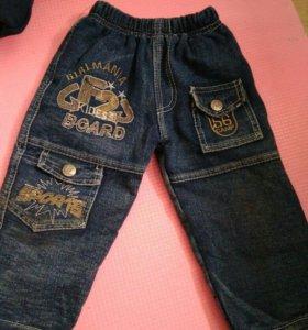 Утеплённые джинсы 92