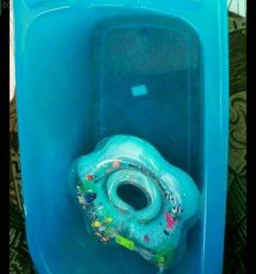 Продается ванночка + круг.