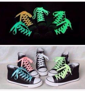Неоновые (светящиеся) шнурки