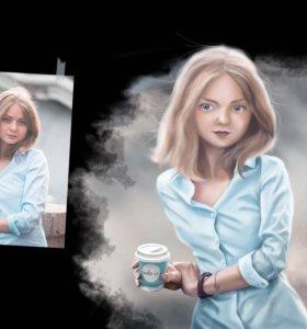 Цифровой портрет по фотографии