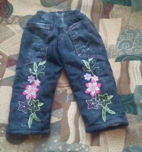 Тёплые джинсы для малышей.