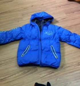 Куртка зимняя двусторонняя 8-9 лет