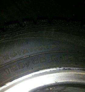 Зимние колёса на R 14.стояли на калине