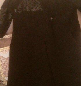 Вязаное пальто кардиган