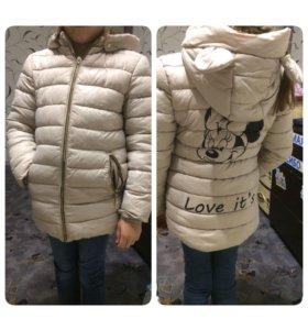 Куртка на девочку 7-9 лет