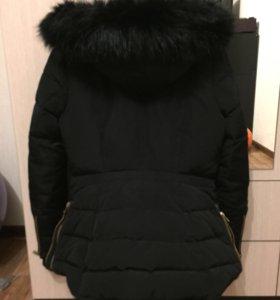 Пуховик зимний Zara basic