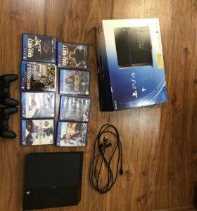 PS 4 на 500гб + 8 игр и 2 gamepad