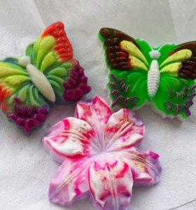 Яркие бабочки из мыла в подарок