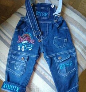 Полукомбнз джинсовый