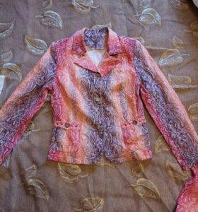 Костюм стрейчевый (блуза/пиджак+юбка)
