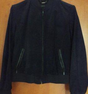 "Замшевая куртка ""GOTTARDI"" ,темно-синяя."