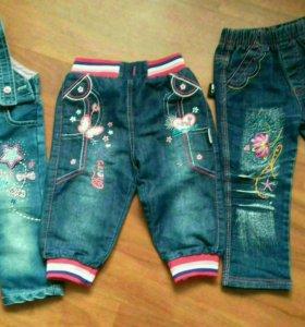 Джинсы и джинсовый комбинезон для девочек