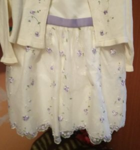 Платье + кофточка на 1-2 года