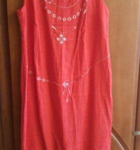 Платье льняное. Новое!